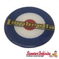 Badge Sticker Domed - Mod Lambretta Target (75mm, 75mm)