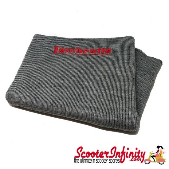 Neck Scarf Scarves Neck Warmer Face Mask LAMBRETTA (Grey, Red Logo)