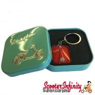 Key ring chain - Vespa (Red, Legshield)