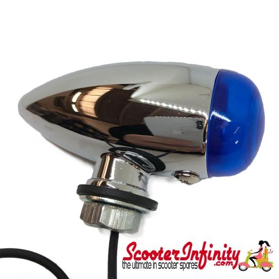 Spotlight / Spotlamp - Mini Bullet Mod Style (Blue) (Vespa / Lambretta)