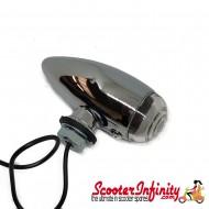 Spotlight / Spotlamp - Mini Bullet Mod Style (Clear) (Vespa / Lambretta)