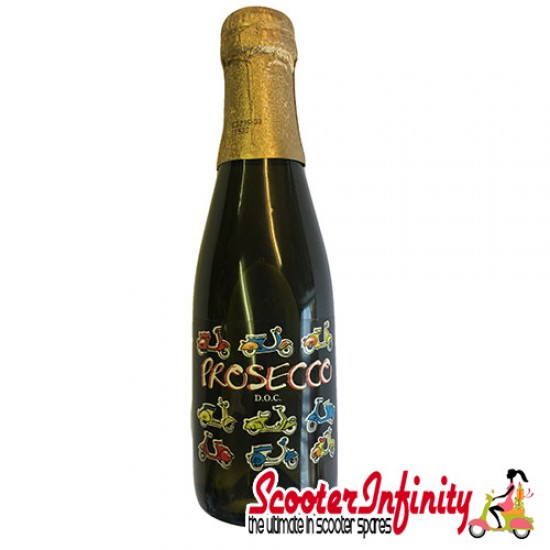 Bottle of Prosecco (Added Scooter Emblems) EILLES Vino Frizzante (200ml)