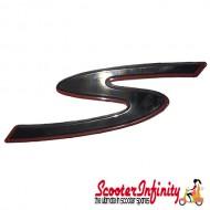 "Badge ""S"" Legshield (Vespa GTS Super Sport)"