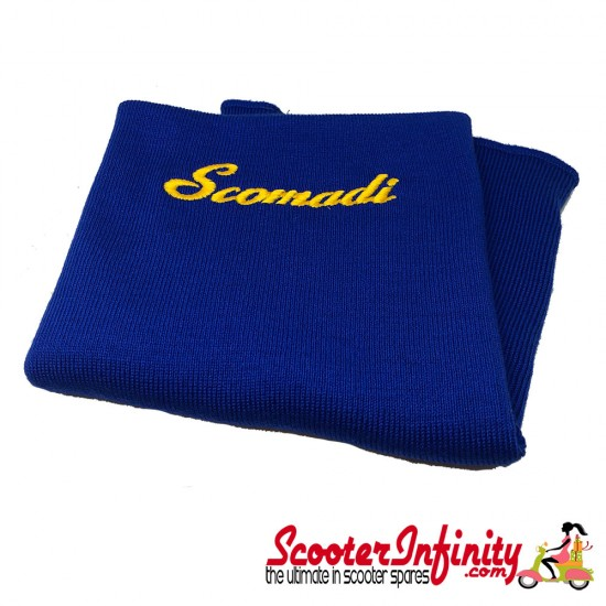 Neck Scarf Scarves Neck Warmer Face Mask SCOMADI (Blue, Gold Yellow Logo)