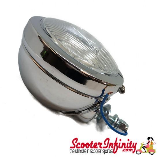 "Spotlight / Spotlamp - Round Back 4 1/2"" Mod Style (Vespa / Lambretta)"