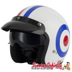 Helmet / MOD Vcan V537 Open Face - (Mod Target - With Popdown Sunvisor)