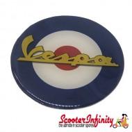 Badge Sticker Domed - Mod Vespa Target (75mm, 75mm)