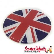 Badge Sticker Domed - Union Jack (75mm, 75mm)