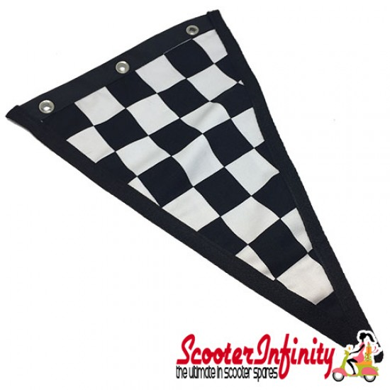 Flag Penant Vespa GTS (Red, Red Trim) (240x170mm) (With Eye Holes, for Whip Aerial)