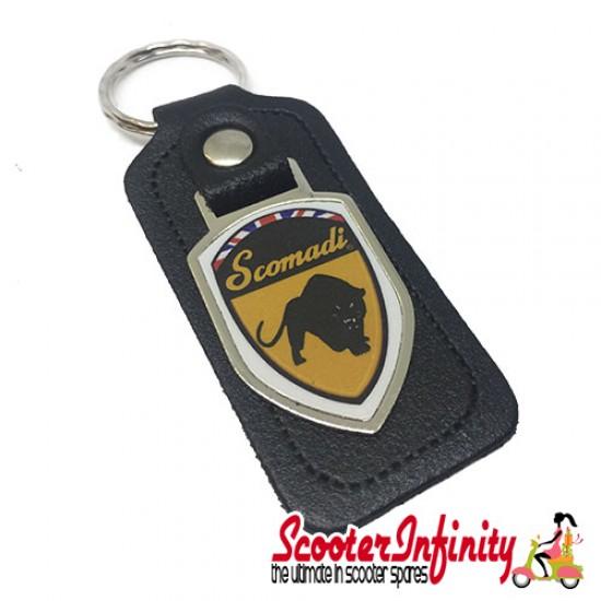 Key ring chain - Scomadi (Black, Shield)