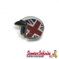 Pin Badge - Helmet Union Jack
