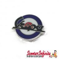 Pin Badge - Mod Target with Large Vespa Emblem